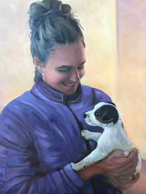 Artwork MaryBeth & little Bruno by Alice Ingraham