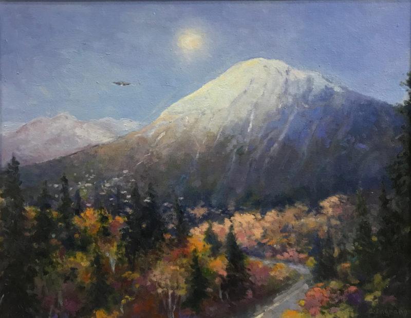 Artwork Sugarloaf Mountain in Autumn by Alice Ingraham